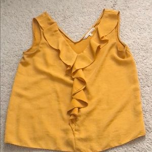Sunflower yellow vneck tank blouse